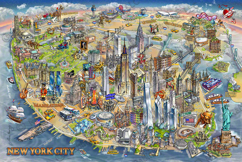 New York City Illustrated Map